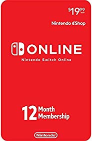 12-Month Membership Card For Nintendo Switch