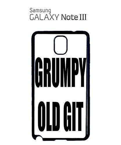 Grumpy Old Git Birthday Gift Mobile Cell Phone Case Samsung Note 3 Black Noir