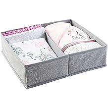 mDesign Organizador para bebe - Cajones organizadores para cosas de mantas, etc. - TambiÃn