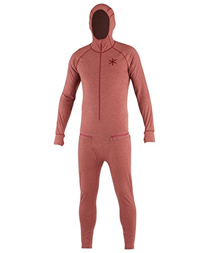 Airblaster Herren Merino Hooded Outdoor Base Layer Ninja Anzug Oxblood