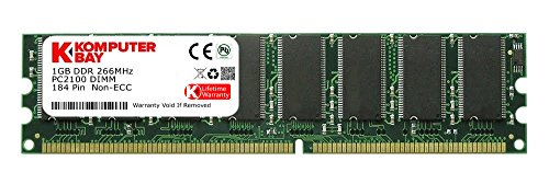 Komputerbay 1GB DDR DIMM (184 PIN) 266Mhz PC2100 DESKTOP SPEICHER - 184 Ddr-dimm-speicher