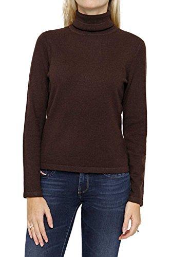 Lai La New York Damen Pullover 100% Kaschmir Rollkragenpullover JASMIN Pure Cashmere , Farbe: Braun, Größe: 42 (New York-kaschmir-pullover)