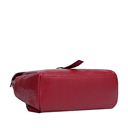 Zaino Yy.f Modo Nuove Borse Sacchetto Di Spalla Cuoio Del Modello Del Coccodrillo Estrinseca Modo Intrinseca E Pratico. 3 Colori Red