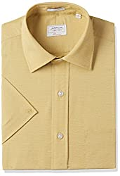 Arrow Mens Formal Shirt (8907538781727_AFUSH0237_40_Beige)