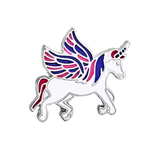 Qinlee Kinder Broschen Einhorn Pegasus Anstecknadeln Kragen Pin Abzeichen Damen Mädchen Mode Geschenk Dekor Hochzeiten Bankette Schmuck