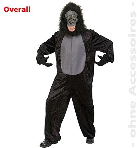 Gorilla Affenkostüm Affen Overall Kostüm Affenanzug schwarz Unisex Gr.L