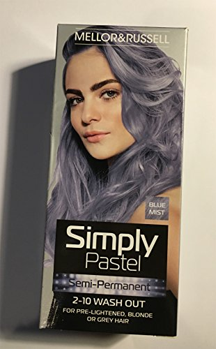 simplement Pastel Semi Permanent Teinture capillaire - Bleu Mist X 3