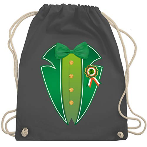 St. Patricks Day - Leprechaun Kobold Kostüm - Unisize - Dunkelgrau - WM110 - Turnbeutel & Gym Bag