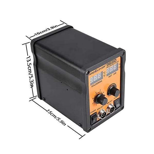 NRG968D Estación de soldadura y desoldadura con soplador de aire caliente,
