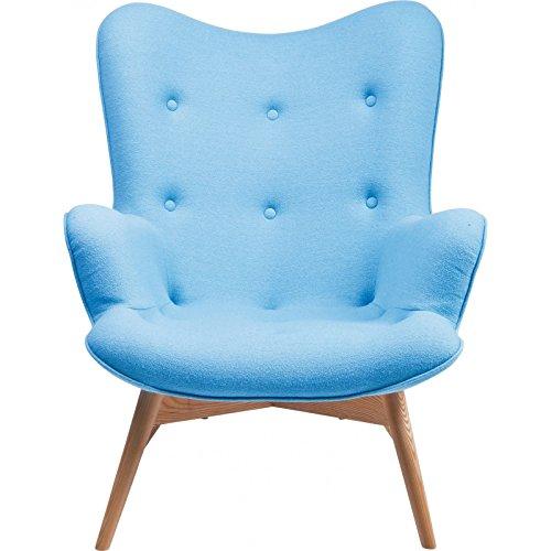 Kare Design Sessel Textil mit Armlehnen Retro Angels Wings blau (Wolle)