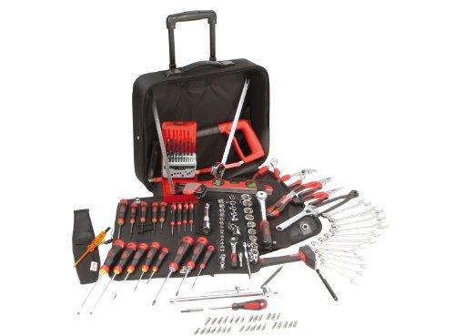 Sam Outillage CP 145BAZ   Maletín de herramientas (textil, con ruedas, contiene 145 herramientas para varios usos)