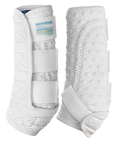 Equilibrium Stretch and Flex - Herradura/Protector para Caballo, Color Blanco, Talla Medium
