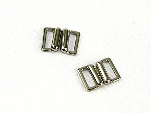 13 mm boucle en métal fermeture Fermeture - Argenté (cm)