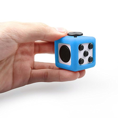 Switchali For Fidget Cube Stress Relief Focus Toy Protective Cover Case (Blue) -