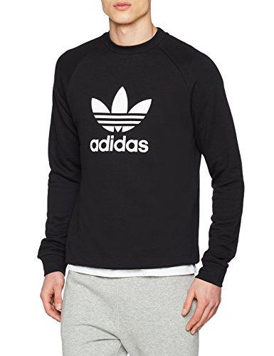 adidas Herren Trefoil Crew Sweatshirt, Schwarz, L