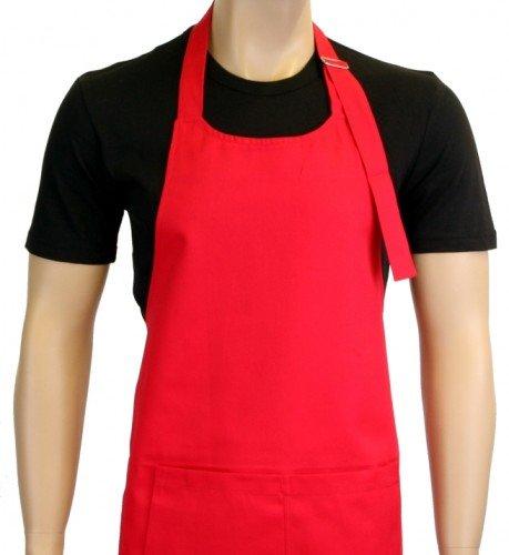 Grillschürze UNI in vielen Farben ! - Grillen - BBQ GRILL SCHÜRZE GRILLSPORT Kochschürze Rot -