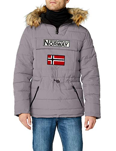Geographical Norway Casimire, Parka para Hombre, Gris (Light Grey), Large (Tamaño del...