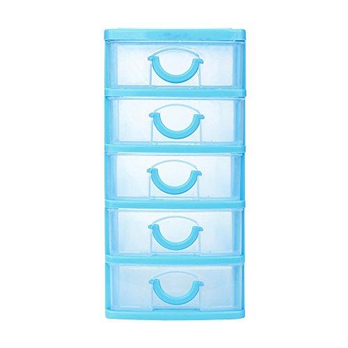 Sulifor Multi-Layer-Aufbewahrungsbox kleine Schubladenart, robuste Kunststoff Mini-Desktop-Schublade Handschuhfach kleine Objekte