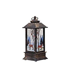 LED Vela Adornos Navidad Originales Rusticos Vintage Decoracion Mesa Casa 8