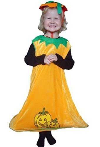 AN02 2-4 Jahre Kürbiskostüm, Halloween Kostüm, Kürbis Faschingskostüme, Kürbis Karnevalskostüm, für Kinder, Jungen, Mädchen, für Fasching Karneval Fasnacht, auch als Geschenk zum Geburtstag oder Weihnachten