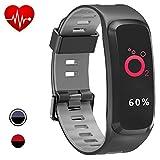 YNSI Fitness Tracker Smartwatch Tattile [Impermeabile IP68 10M] Cardiofrequenzimetro - Pressione arteriosa e Air GPS Outdoor Fitness Meteo UV/Bluetooth Notifiche Android e iOS