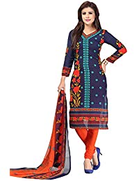 A K Designer Women's Chiffon Dress Material (Mehak9004_Free Size_White)