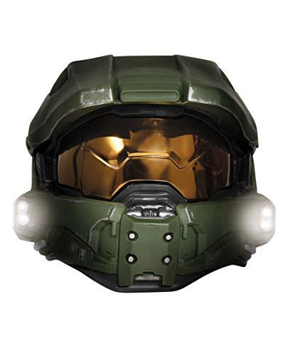 Chief Master Kostüm Cosplay - Horror-Shop Original Halo 3 Masterchief Deluxe Helm mit Licht für Cosplay und Fasching