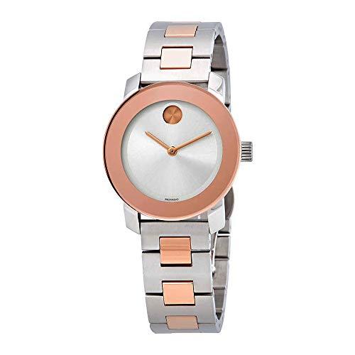 Movado Women's Two Tone Steel Bracelet & Case Swiss Quartz Watch 3600464