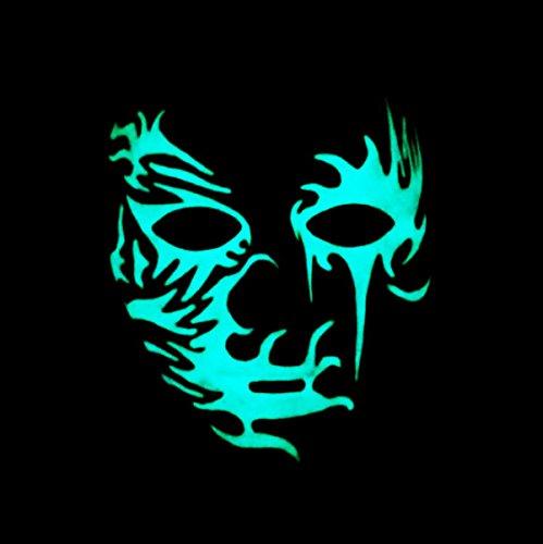 host Dance handgemaltes nighting Maske Hip-Hop Maske Dancing Maske Halloween Party Ball Kleid Up, plastik, D, onesizw (Le Clown D'halloween)