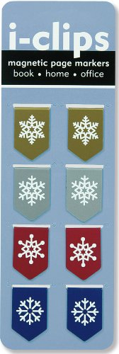 Snowflakes i-clips Magnetic Page Markers