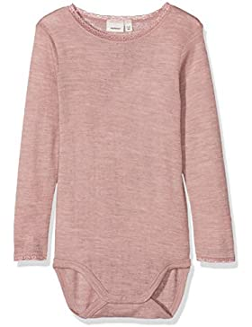 NAME IT Baby-Mädchen Strampler Nmfwang Wool Needle Ls Body Noos