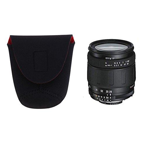 asiproper Neopren DSLR Kamera Objektiv Soft Displayschutzfolie Tasche Set S New schwarz + rot