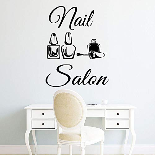 Wandaufkleber New Design Nail Vinyl Wall Sticker Mural For Girls Bedroom Nail Salon Decor Removable Decal Creative Stickers 30 * 40Cm
