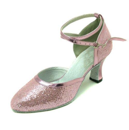 Water Cube Flash Oro Argento signora della sala da ballo moderna scarpe da ballo rosa