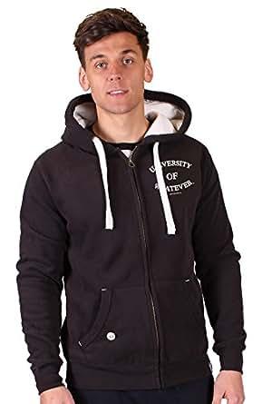 University of Whatever Lads Unestablished zipped hoodie - Fashion zip sweatshirts (Black, S)