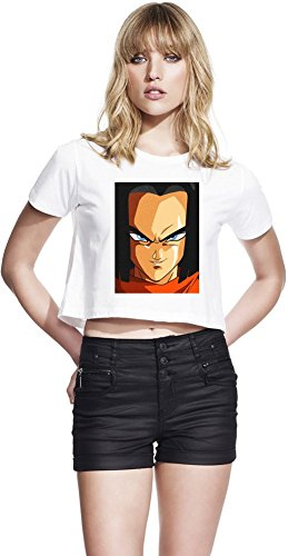 Grunge Android 17 Face Continental Recadrée Jersey Femmes Small