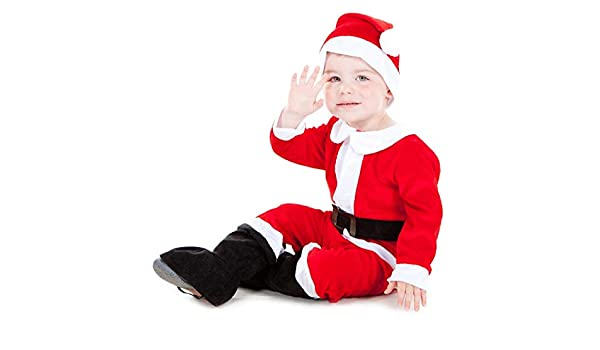 Girls Deluxe Red Santa Xmas Christmas Costume Kids Child Book Week Fancy Dress
