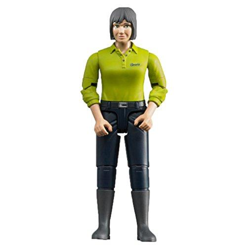 Bruder 60405 Minifigur-bworld Frau mit hellem Hauttyp und dunkelblauer Hose