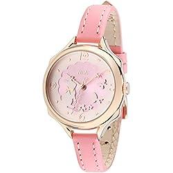 Fashion Girl Female Children Three- dimensional Rabbit Pink Leather Quartz Wrist Watch