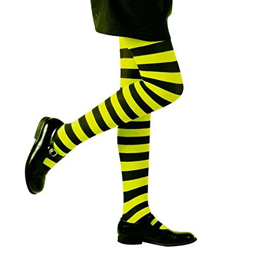 Preisvergleich Produktbild WIDMANN 01214 Gestreifte Strumpfhose Kostüm girls S
