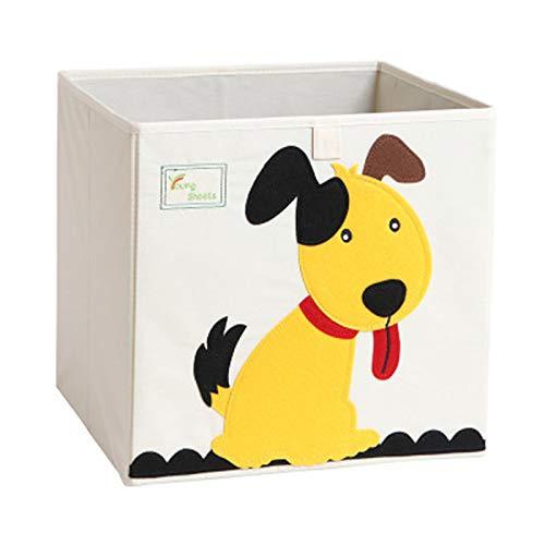 Cartoon Aufbewahrungswürfel Leinwand faltbare Spielzeug Aufbewahrungsbox für Kinder (Hund) -