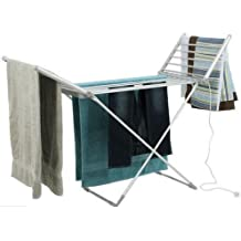 ELECTRIC CLOTHES AIRER DRYER INDOOR HORSE RACK LAUNDRY FOLDING WASHING DRY by BARGAINS-GALORE