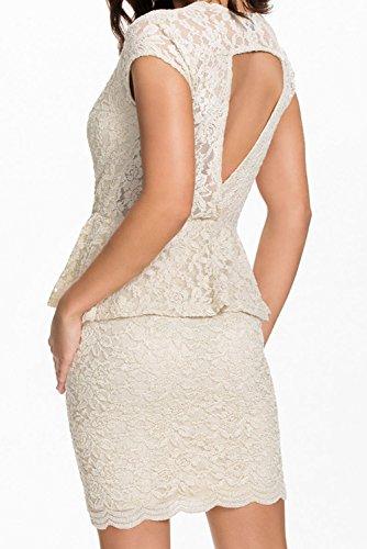 Dissa® femme Blanc SY21555-1 robe de cocktail Blanc