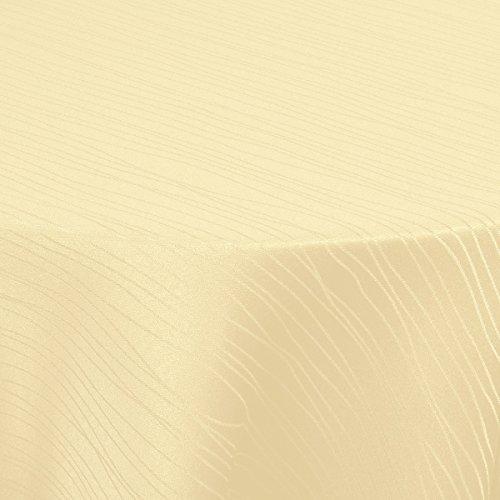 Tischdecke Stoff Textil Tafeldecke Damast Jacquard Tischtuch | Sultan Wellen Streifen Design|...