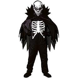 Scary - Disfraz de esqueleto de halloween para niño, talla 158 cm (38448)