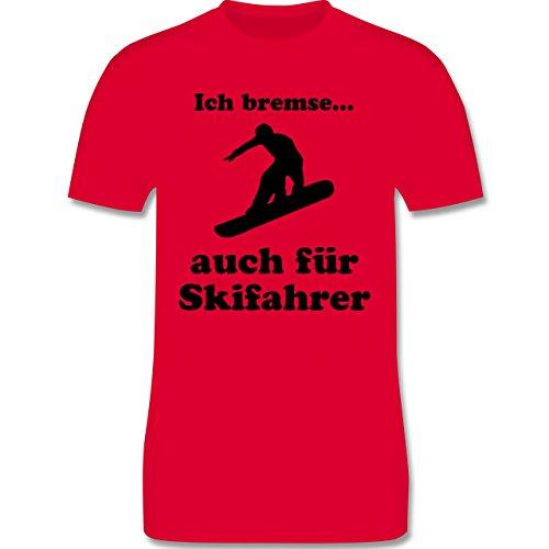 Wintersport - Snowboard - Ich bremse auch für Skifahrer - Herren Premium T-Shirt Rot
