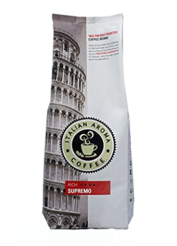 Italian Aroma Coffee SUPREMO (Whole Bean 1KG) – strong, silky