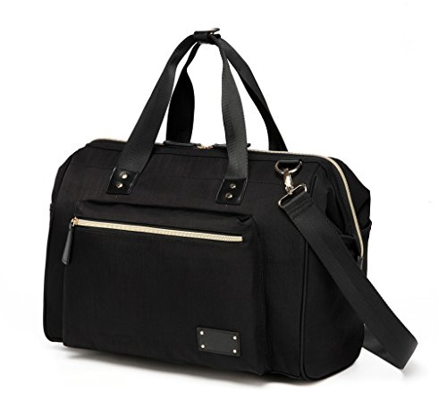 lcy-stylish-multi-function-baby-nappy-changing-bag-with-changing-pad-black