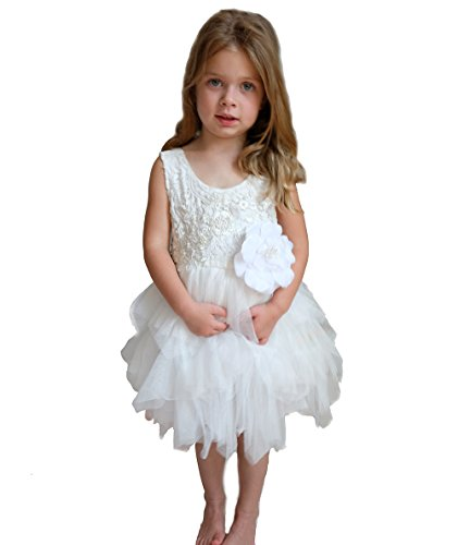 Pop Sparkle Kleid 3 Kleinkind Weiß
