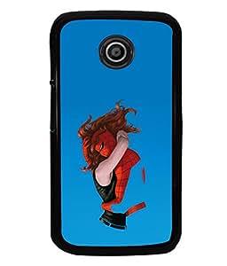 printtech Superhero Love Back Case Cover for Motorola Moto E2::Motorola Moto E (2nd Gen)